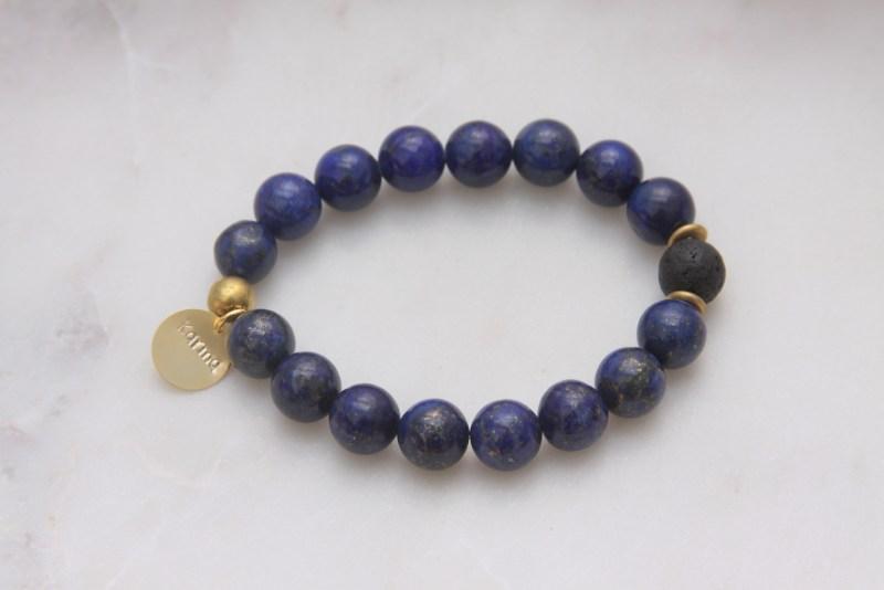 karma bracelet - lapis gemstones