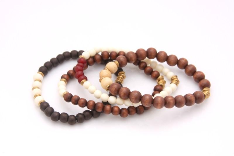 neutral mini bracelet set