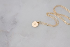 gold anchor charm necklace - handmade