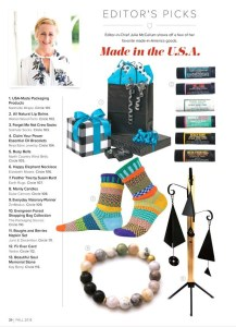 reija eden jewelry featured in the Fall 2018 gift shop magazine issue