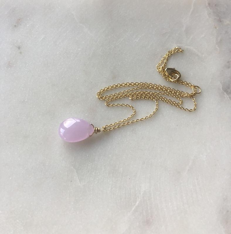 pastel jade necklace
