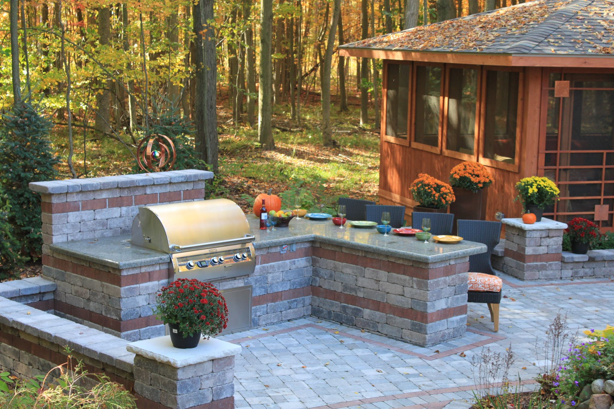Outdoor Kitchens   Reder Landscaping - Landscape Design ... on Patio Kitchen id=17180