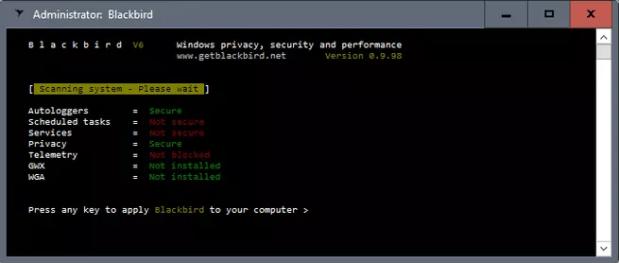 blackbird herramienta para mejorar la privacidad de windows
