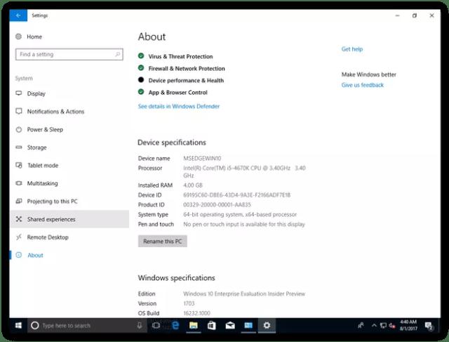 Acerca de máquina virtual Insider Windows