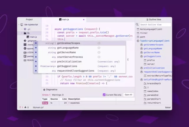 Autocompletar Atom IDE