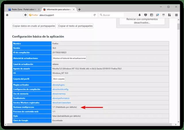 Firefox - Multiproceso activado
