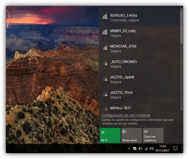 Redes Wi-Fi Windows 10