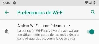 Android 9.0 Pie - Desactivar accionar Wi-Fi automáticamente
