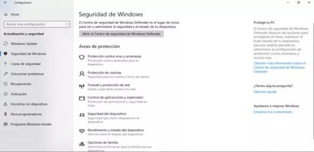 Acceder a la confianza de Windows