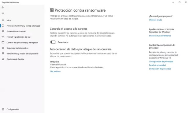 Windows Defender Anti Ransomware