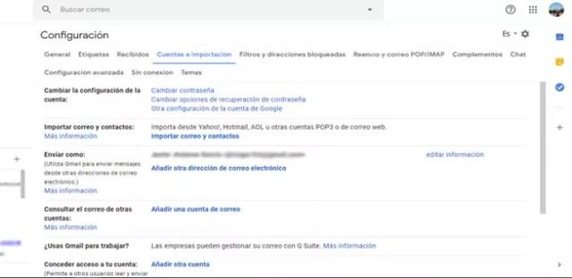 Agregar otra dirección en Gmail