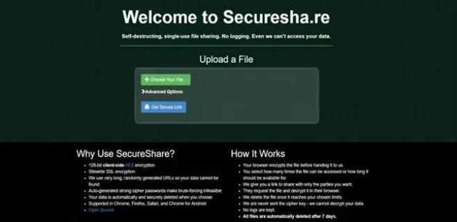Cifrar registros con Securesha-re