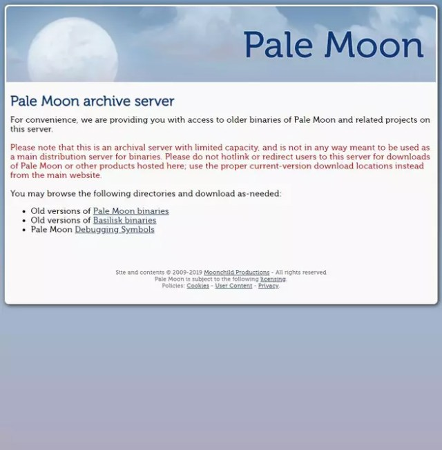 Pale Moon Archive