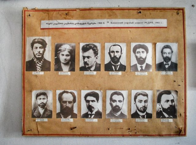 Joseph Stalin's Secret Publishing House. The first man in the first row is Mr. Stalin