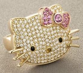 hellokittydiamondring small Hello Kitty Diamond Ring   cool street weird