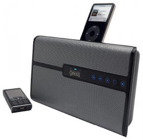 housepartyblu HouseParty Blu   Bluetooth speaker with dock for phone and fancy