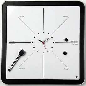 weekplannerclock small Magnetic Week Planner Clock   clock watching gets useful