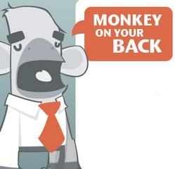 monkeyonyourback small Monkey on Your Back   the delegation engine