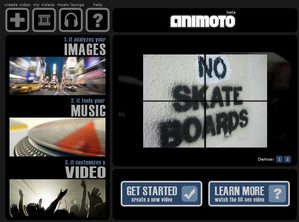 animoto small Animoto   wild punk video slideshows hit town...Powerpoint surrenders