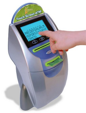 zillionztouchscreenatm small Zillionz Touch Screen ATM Bank   the high tech piggybank