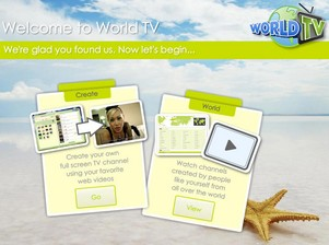 worldtv small World TV   superb idea brings together video content and user creativity