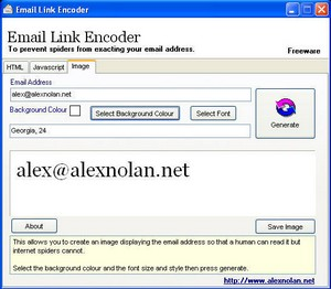 emaillinkencoder small Email Link Encoder   prevent your online email from being grabbed by spammers