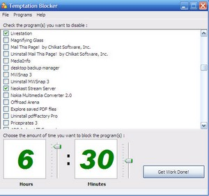 temptationblocker small Temptation Blocker   superb software helps control our sad computer addiction