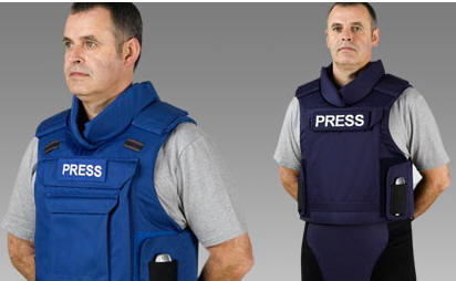 pressvest Bulletproof Press Vest   definitely one for the dodgier members of our profession