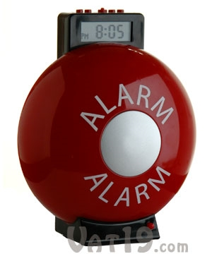 Fire Bell Alarm Clock – you know, for emergencies