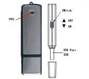 8Gb USB Flash Drive Voice Recorder – discreet audio recording for the modern keyring