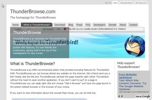 thunderbrowse small Thunderbrowse   freebie Firefox add on turns your email client into a web browser