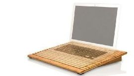 ecofanbamboostand ECOFan Bamboo cooling stand   Like a washboard for laptops