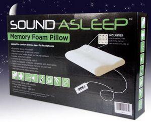 Sound Asleep – Memory foam pillow with built-in speaker