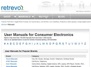 retrevomanuals small Retrevo Manuals   lost your gadget manual? Try here...