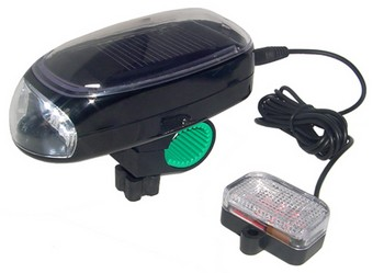 Solar Bicycle Light Kit – Be seen front and back for free