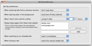 bartab small BarTab   free Firefox addon controls your tab memory consumption