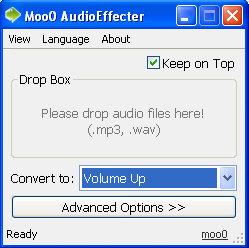 Moo0 Audio Effecter – super fast audio file tweaker freeware