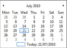 QuickMonth Calendar – cute free utility adds a calendar to your task bar