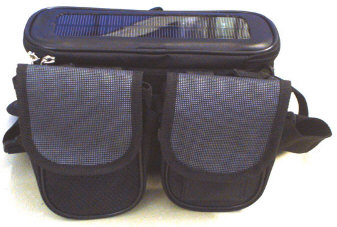 solarbicyclebag Solar Bicycle Bag   keep your stuff powered up as you move