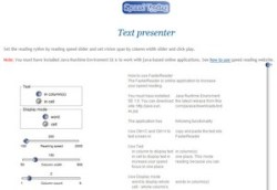 Text Presenter – free online speed reading app improves your reading speed