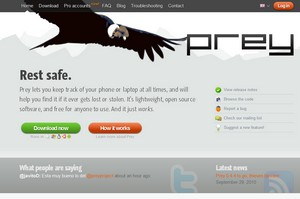 prey small Prey Tracker   awesome open source freeware lets you track your stolen laptop and phone