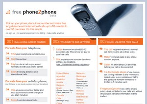 freephone2phone small Freephone2phone   free long distance and international calls by listening to an ad first