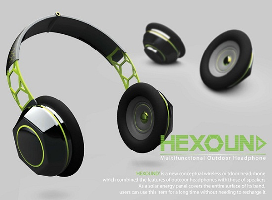Hexsound headphone concept transforms into a pair of speakers