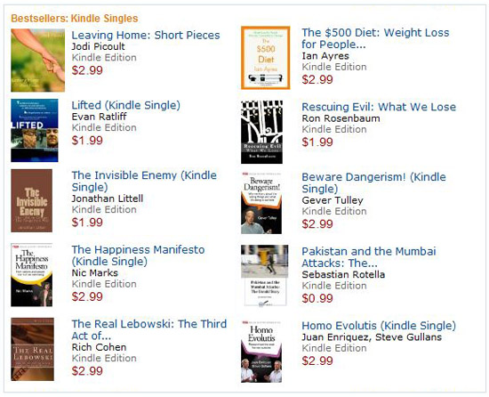 Kindle Singles � Quick reads for busy lives