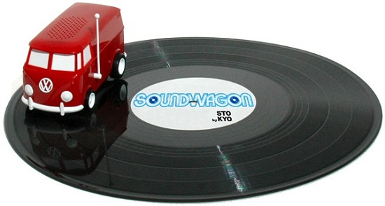 Soundwagon plays your records by driving on them