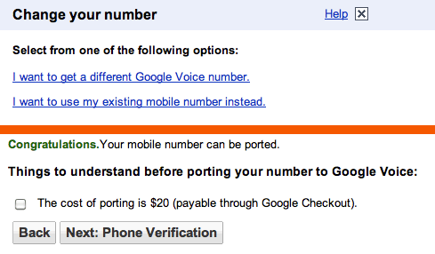Google Voice now testing number porting