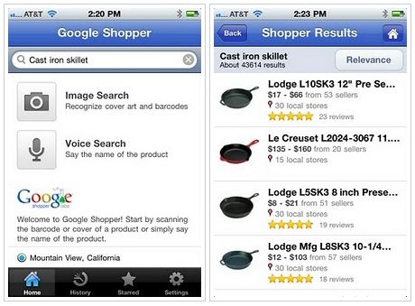 Google Shopper comes to the iPhone