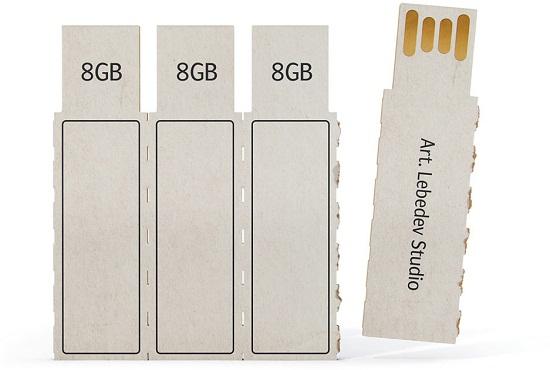 Art Lebdev designs a disposable flash drive