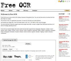 Free Online OCR – free service extracts text from any uploaded image