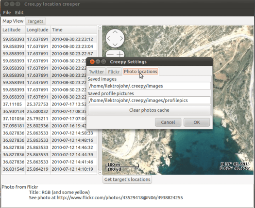 Creepy software maps out your tweets and Flickr images